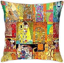 MODORSAN Funda de Almohada, Gustave Klimt Art