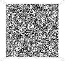 MODORSAN Manta de Picnic Doodle Arreglo Floral de