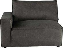 Módulo esquinero izquierdo de sofá de tela gris