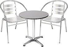 Mojawo® - Juego de mesa y 2 sillas apilables