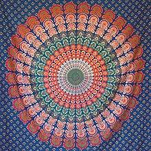 momomus Tapiz Mandala Hippie- 100% Algodón,