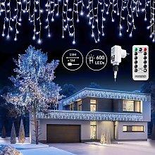 Monzana Cadena de luces LED Carámbanos color