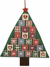 Mopec NAD297 Calendario adviento árbol Patchwork,