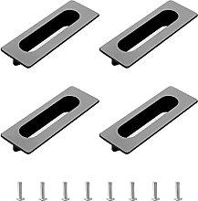 Morobor Tirador empotrado moderno, 4 piezas de