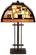 MOSAICA - lámpara de mesa en estilo Tiffany