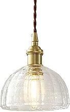 MQJ Luz Del Colgante de Oro Lámpara de Cristal
