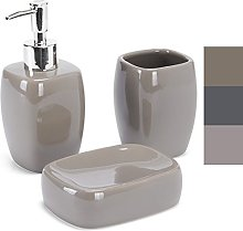 MSV MS593 - Set de cerámica, 3 Piezas, Color Taupe