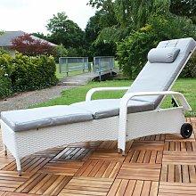 Mucola - Tumbona ajustable mueble para patio