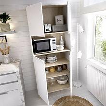 Mueble auxiliar 2 puertas más estantes en blanco