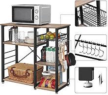 Mueble auxiliar con ganchos y cesta Vasagle