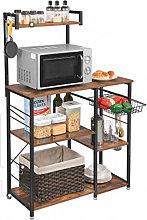 Mueble auxiliar de cocina con estantes Vasagle