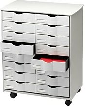 Mueble auxiliar fast-paperflow para oficina negro
