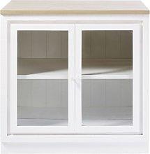 Mueble bajo de cocina blanco con 2 puertas y