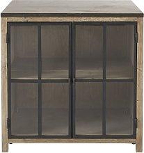 Mueble bajo de cocina con 2 puertas acristaladas