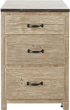 Mueble bajo de cocina con 3 cajones de pino