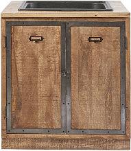Mueble bajo de cocina con fregadero con 2 puertas