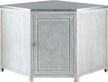 Mueble bajo de cocina esquinero de hevea gris L 99