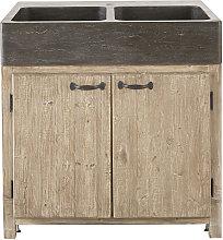 Mueble bajo de cocina para fregadero con 2 puertas