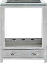 Mueble bajo de cocina para horno de hevea gris L