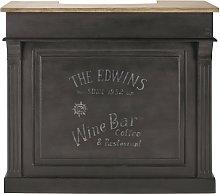 Mueble bar 4 cajones gris carbón
