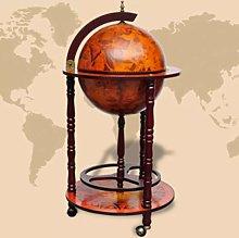 Mueble bar bola del mundo madera - Hommoo