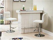 Mueble bar CARDY - Piel sintética y cristal