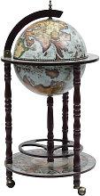 Mueble bar de bola del mundo madera de eucalipto