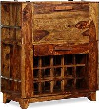 Mueble bar de madera de sheesham maciza 85x40x95