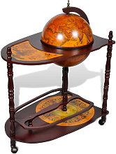 Mueble bar de pie bola del mundo madera de