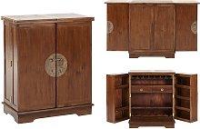 Mueble bar TALANG II - 2 puertas - Teca maciza