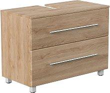 Mueble base universal con patas 85 cm Roble claro