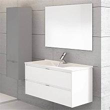 Mueble con lavabo Blanco brillo Ibiza 100 TEGLER