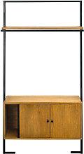 Mueble de almacenaje vintage madera y metal negro