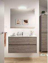 Mueble de baño 100 cm de madera Roble Eternity