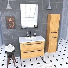 Mueble de baño 80 x 50 cm – Lavabo blanco –
