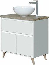 Mueble de baño aseo 1 cajón 2 puertas color