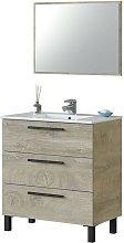 Mueble de baño aseo Athena color roble alaska 3