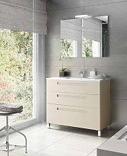 Mueble de baño Avila dos Paris con patas 3 cajones