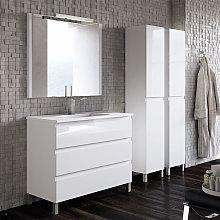 Mueble de baño Campoaras Aqua con patas 3 cajones