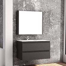 Mueble de baño Campoaras Aqua suspendido 2 cajones