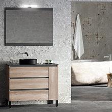Mueble de baño Campoaras Kloe con patas 3 cajones