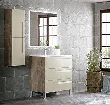Mueble de baño Campoaras Zeus con patas 3 cajones