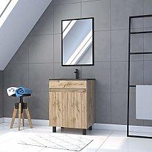 Mueble de baño con 2 puertas y lavabo