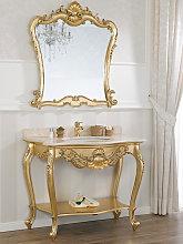 Mueble de baño con espejo Eleonor estilo Barroco