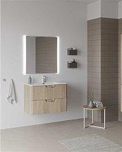 Mueble de baño con lavabo cerámico 80cm Life Royo