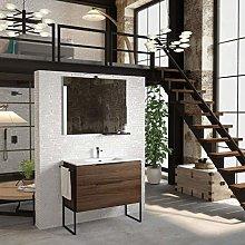 Mueble de Baño con Lavabo Cerámico Galsaky