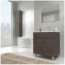 Mueble de baño con Lavabo de Cerámica 2 puertas