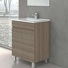 Mueble de baño con Lavabo de Porcelana - con 2
