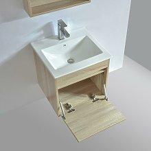 Mueble de baño con lavabo EASY 50 cm color roble