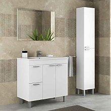 Mueble de baño con lavamanos + Columna Blanco